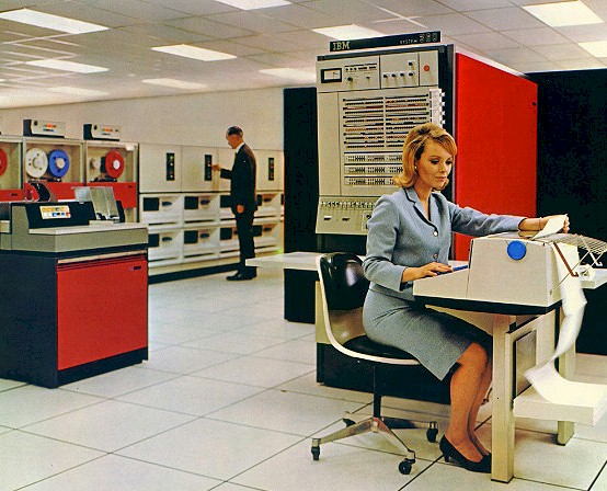In the 1970s, personnel data was sometimes stored on physical, on-premises mainframes.