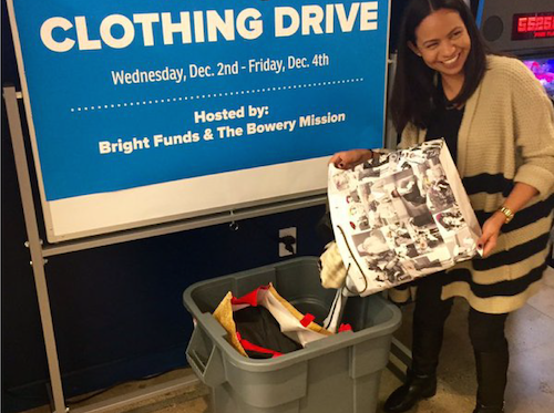 Namely office clothing drive