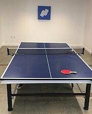 Ping pong tables in the Namely game room