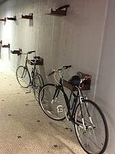 Bike racks at the Namely NYC office
