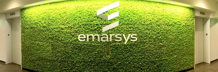 A wall of moss at Emarsys's US office