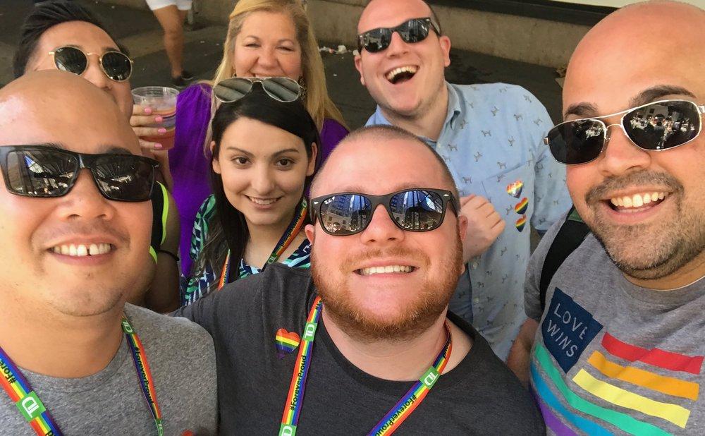 Namely at Pride Parade