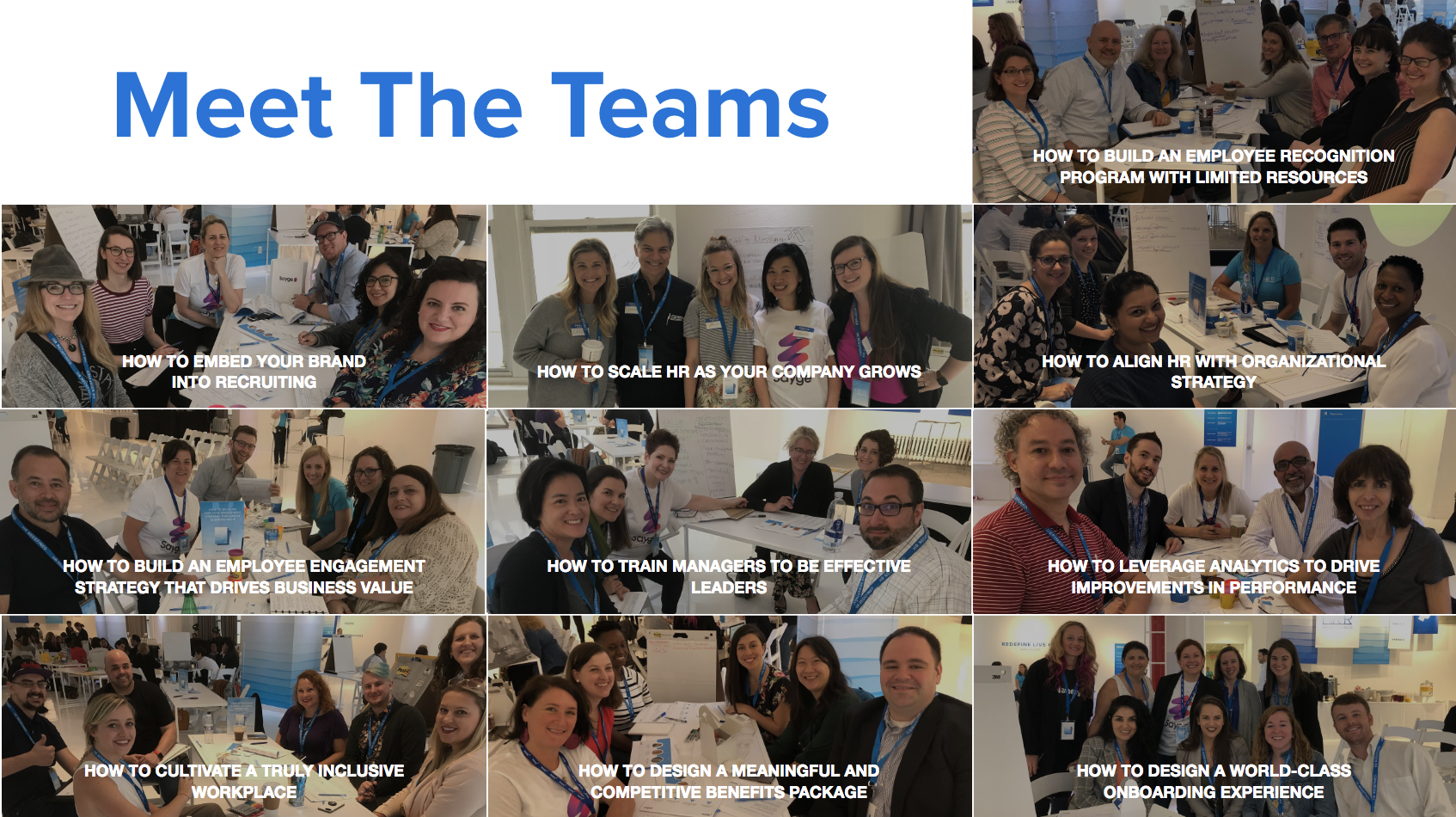 All the teams who participated in Namely's hackathon