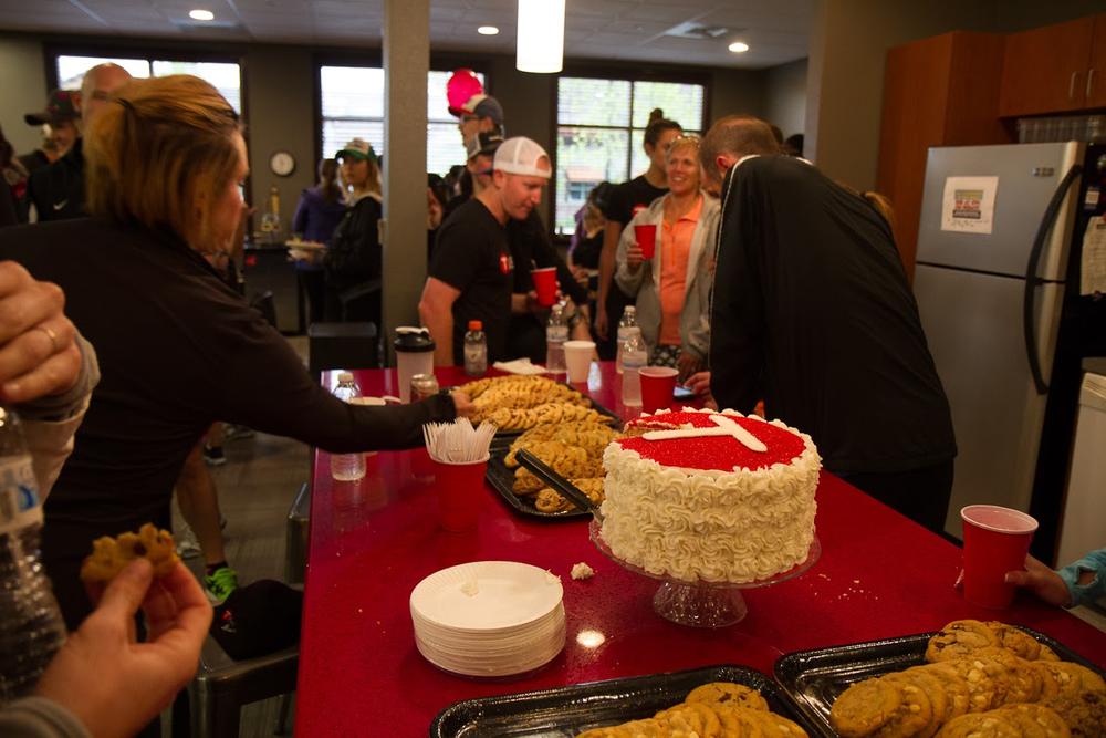 Some sweet treats enjoyed at the TSheets 10-year anniversary celebration.