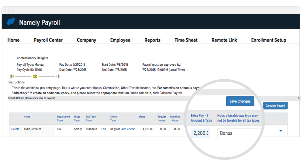 The latest product updates to Namely's payroll platform