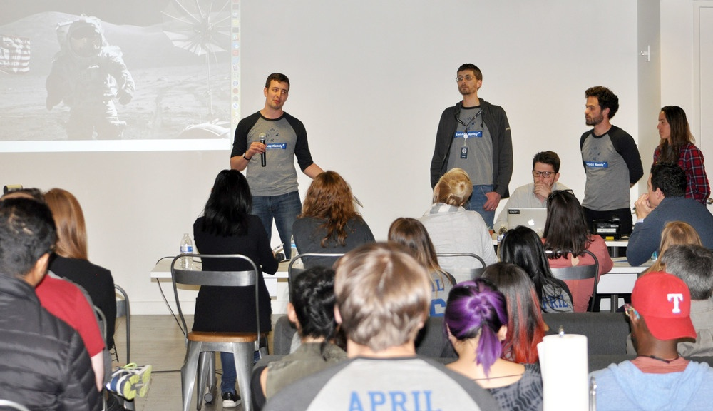 The Project Apollo team delivers a live product demonstration.