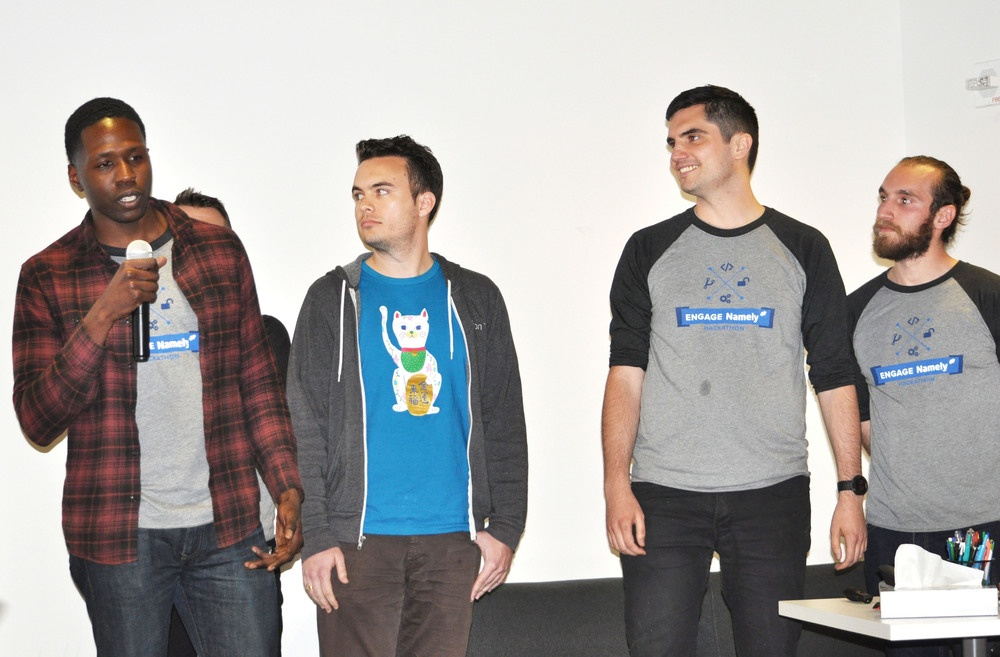The Namely Sense team presents their project centered on temperature, motion, and humidity sensors around the office.