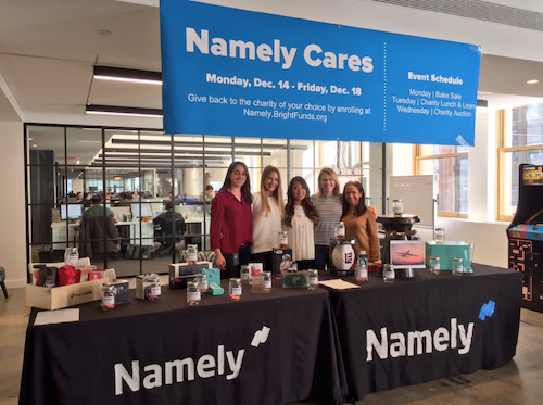Namely Cares December charity event