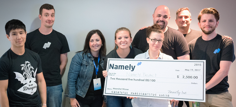 The  Namely Predict  team wowed both the audience and judges, taking first place in the