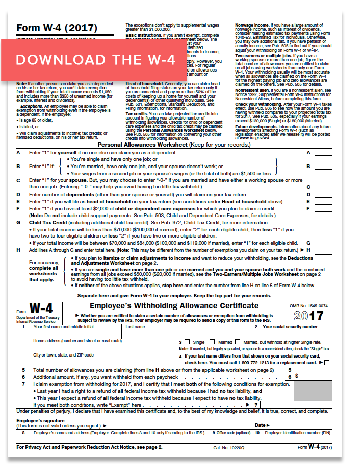 everything to know about the form w-4