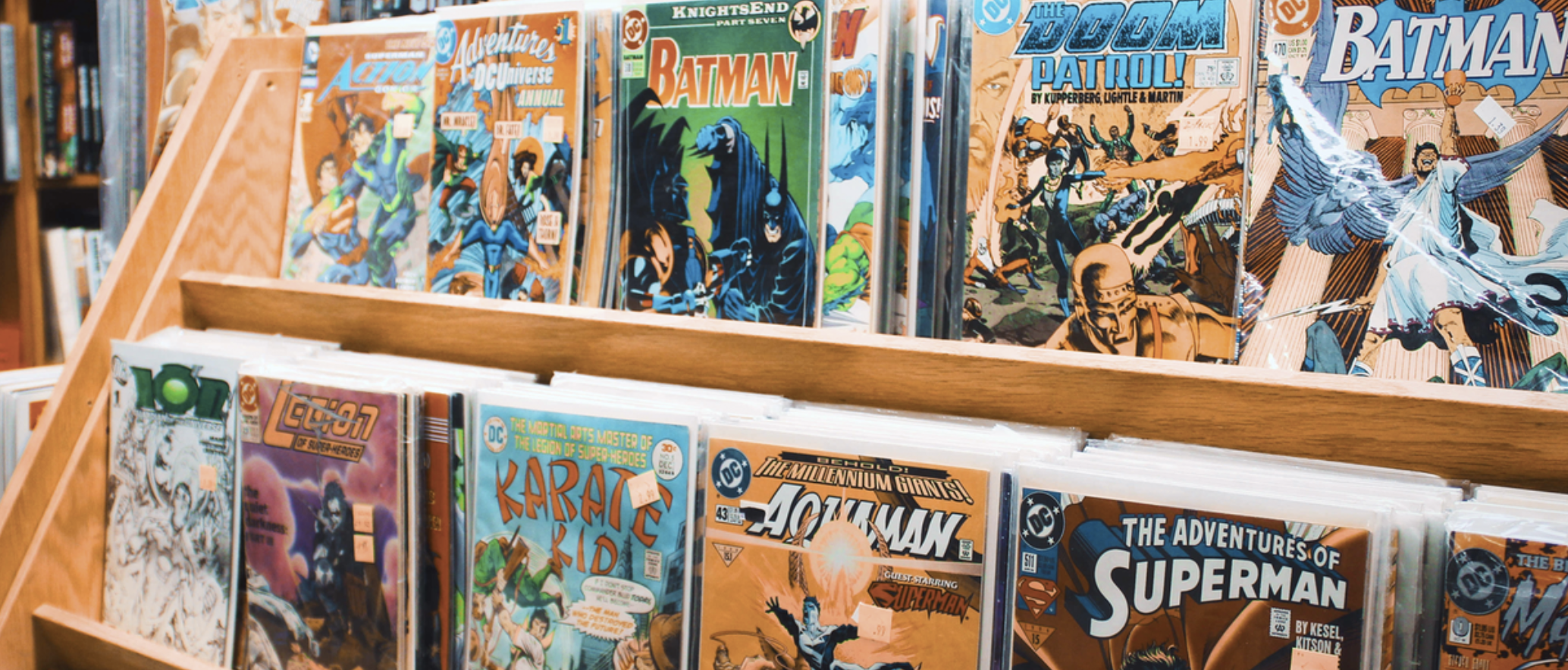 Superhero comic books.