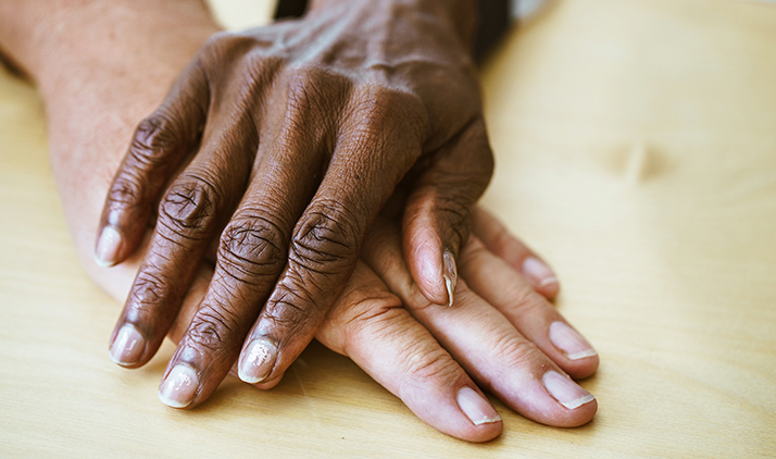 A pair of multiethnic hands.